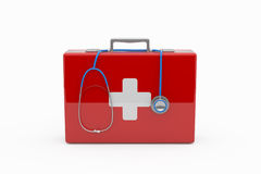 First aid concept. On white Royalty Free Stock Photo