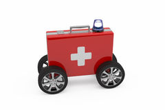 First aid concept. On white Royalty Free Stock Image