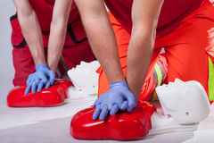 First aid course Stock Photo