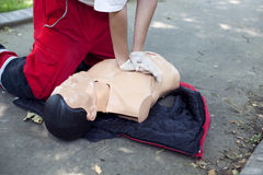 First aid - CPR Royalty Free Stock Photo