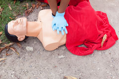 First aid. CPR. Stock Images