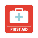First aid design. First aid briefcase over white background. colorful design. vector illustration Stock Photography