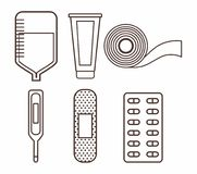 First aid design. First aid related icons over white background vector illustration Royalty Free Stock Photos