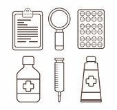 First aid design. First aid related icons over white background vector illustration Royalty Free Stock Photo