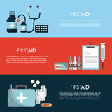 First aid design. Infographic presentation of first aid concept. colorful design. vector illustration Royalty Free Stock Photography