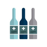 First aid design. Medicine bottle icon over white background. colorful design. first aid concept. vector illustration Royalty Free Stock Image