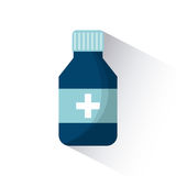 First aid design. Medicine bottle icon over white background. first aid concept. colorful design. vector illustration Stock Photos