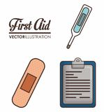 First aid design. First aid related icons over background colorful design vector illustration Royalty Free Stock Image