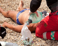 First aid after drowning Stock Photography