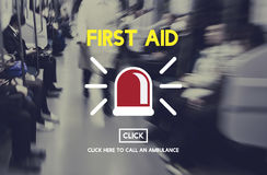 First Aid Emergency Accident Service Concept Stock Image