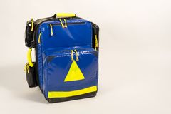 First Aid Emergency Backpack stock images