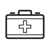 First Aid. First, emergency, aid icon vector image. Can also be used for firefighting. Suitable for web apps, mobile apps and print media Royalty Free Stock Images