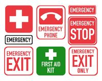 First aid emergency icons set Royalty Free Stock Images