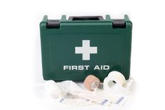 First aid equipment Stock Images