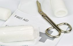 First Aid Equipment Stock Photo