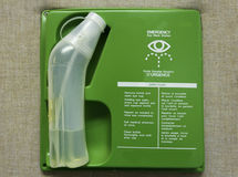 First aid eye wash station Royalty Free Stock Photos