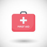 First aid  flat icon. Flat design life safety and healthcare with round shadow,  illustration Stock Photo