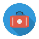 First aid. Flat icon for mobile and web applications. Vector illustration Stock Images