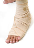 First aid foot Royalty Free Stock Photo