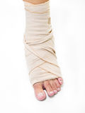 First aid foot Royalty Free Stock Image