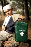 First Aid in the Forest Royalty Free Stock Image