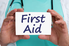First aid help helping cpr doctor medical accident Royalty Free Stock Image