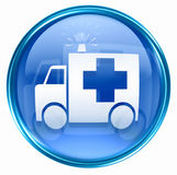 First aid icon blue Royalty Free Stock Photo
