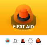 First aid icon in different style Royalty Free Stock Photos