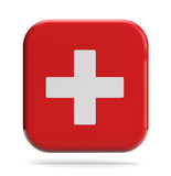 First Aid Icon. Medical cross icon isolated on white Stock Photography