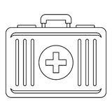 First aid icon, outline style Stock Photo