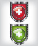 First aid shield illustration Stock Photos