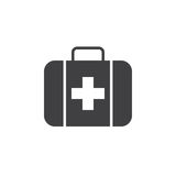 First aid icon , solid logo illustration, pictogram isolat. Ed on white Stock Photos