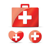 First aid illustration  on white Royalty Free Stock Photo