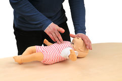 First aid instructor Royalty Free Stock Photo