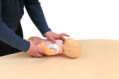 First aid instructor Stock Image