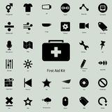 First aid kid icon.  Detailed set of minimalistic icons. Premium graphic design. One of the collection icons for websites, web des. Ign, mobile app on white Royalty Free Stock Photo