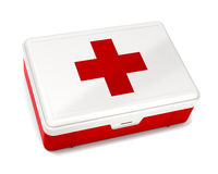 First Aid Kit. Isolated on White with Clipping Path Stock Images