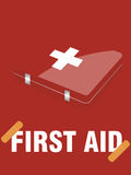 First aid kit. Vector illustration of  First aid kit Stock Photography
