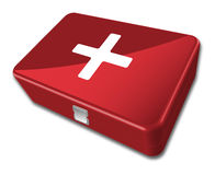 First aid kit. Isolated on white background Royalty Free Stock Photo