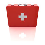First aid kit. Isolated on white background Royalty Free Stock Images