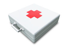 First Aid Kit. A 3D First Aid Kit placed on a white background Royalty Free Stock Photography