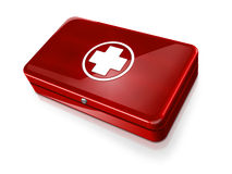 First aid kit. Red first aid kit illustration Stock Photo