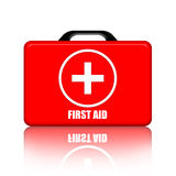 First Aid Kit. Suitcase illustration over white background Stock Images