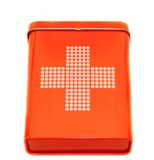 First Aid Kit. Close-up of a first aid kit, isolated on white Stock Images