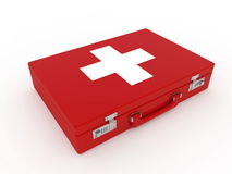 First aid kit. On white background Royalty Free Stock Photos