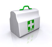 First Aid Kit. With reflection Stock Photos