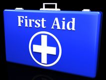 First aid kit. On a black background Royalty Free Stock Photo