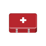 First-aid kit. Red first-aid box. EPS file available Stock Images