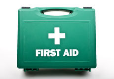 First Aid Kit. A First Aid Box on a white background Royalty Free Stock Photo