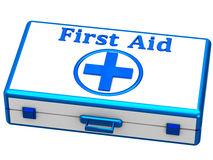 First aid kit. Isolated on white background Stock Photography